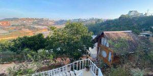 Villa Đà Lạt D193 - Nhà gỗ view rừng núi, thung lũng đèn, săn mây