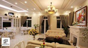 Phòng khách Villa Đà Lạt D051